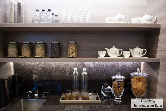 Tea and cookies (pantry area) at the Spa