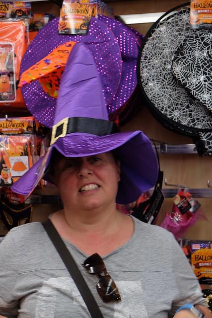 Claire enjoying hats