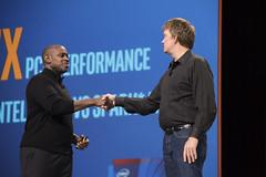 Michael Greene and Mike Olson, Intel Keynote, JavaOne 2015 San Francisco