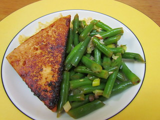 Sweet-and-Sour Marinated Tofu; Green Bean Salad with Lemon, Garlic and Chilli