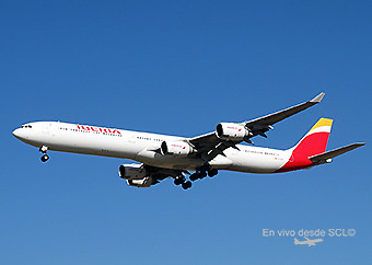 Iberia A340-600 new colors on final (RD)