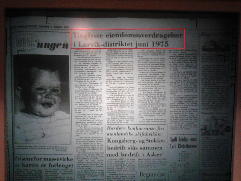 tinglyst juni 1975