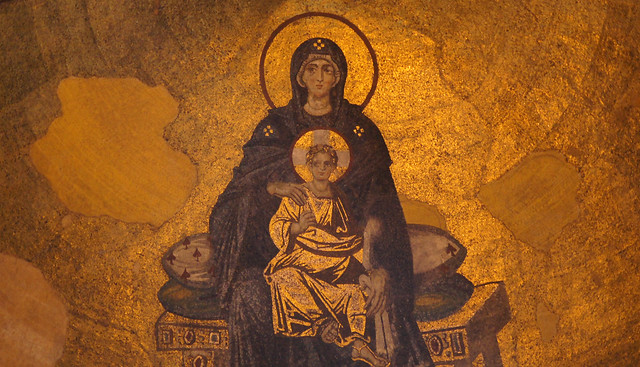 The Virgin and Child from the Apse of Hagia Sophia, Constantinople (Istanbul)