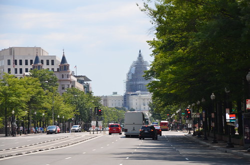 Washington DC Constitution Avenue Aug 15