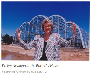 Evylyn Newman at the Butterfly House