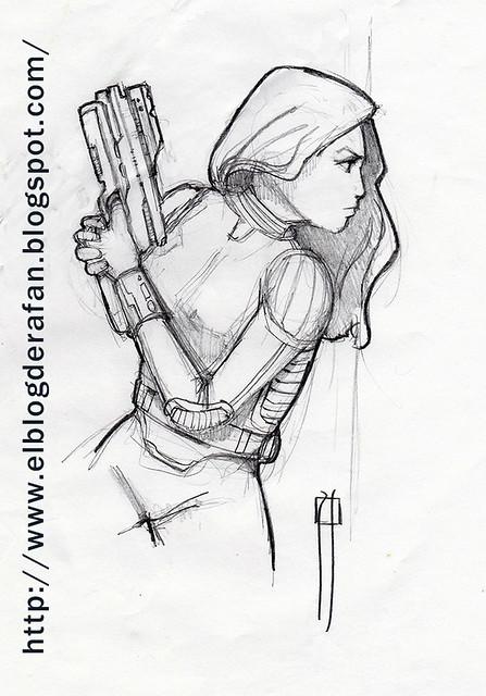 chica con pistols