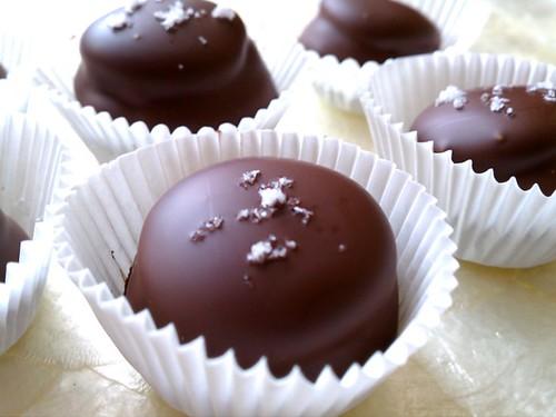 Brown Sugar Meringue Cookies and Salted Honey Caramels Dipped in Bittersweet Chocolate