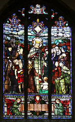 Christ the King greeted by Nayland parishioners by Robert Anning Bell, 1921
