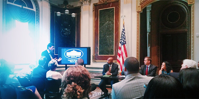 Andres Useche speaks at the White House 1