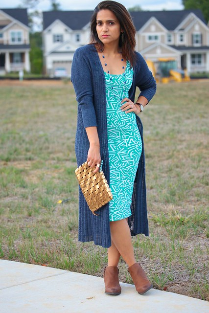 Dress - ASOS  Cardigan - Free People  Shoes - Famous Footwear  Necklace - Francesca's Watch - Bulova Tanvii.com