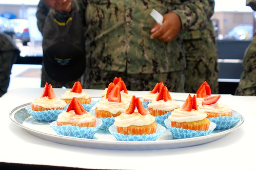 """Coronado Calif. - Sailors assigned to Assault Craft Unit One (ACU-1) participate in the second-annual """"Surf Rider Bake Off"""" competition run by the command's Diversity Committee."""