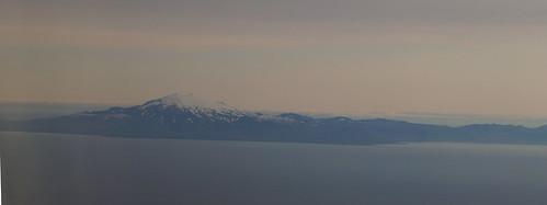 001 Snæfellsjökull vanuit het vliegtuig