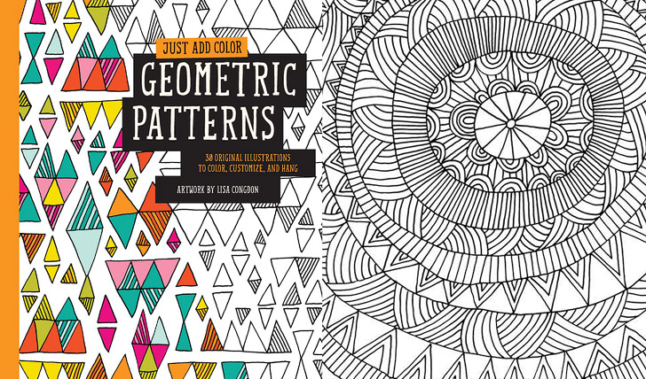 Geometric patterns 11 beautiful adult coloring books