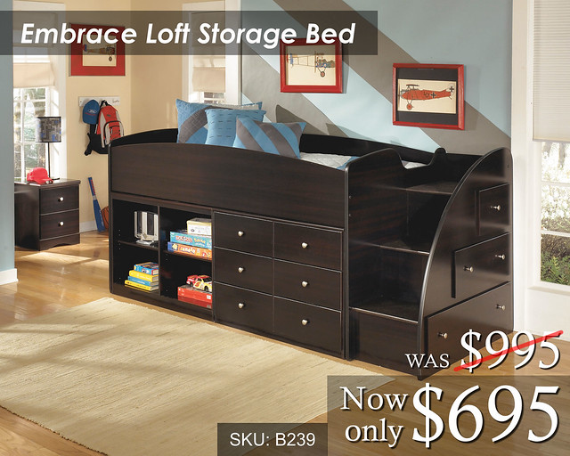 Embrace Loft Storage Bed 695