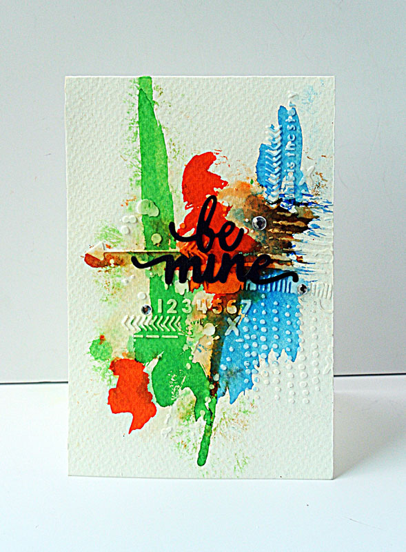 Be-mine-mixed-media-card
