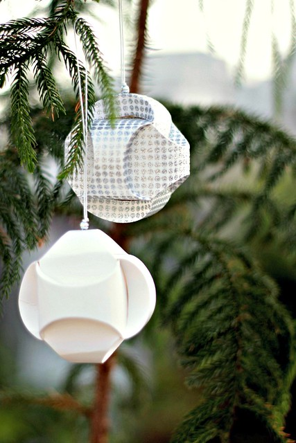 Sculpted Paper Round Ornaments