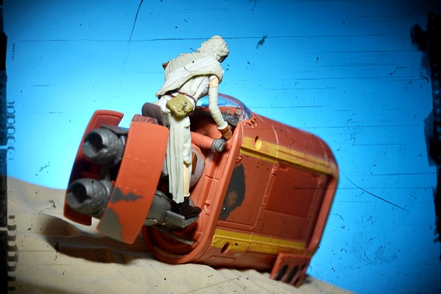 "Star Wars - The Force Awakens' 3.75"" Rey with Speeder set"