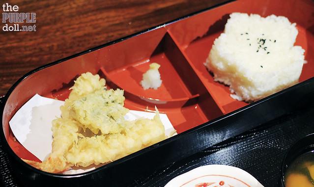 Assorted Tempura and Rice