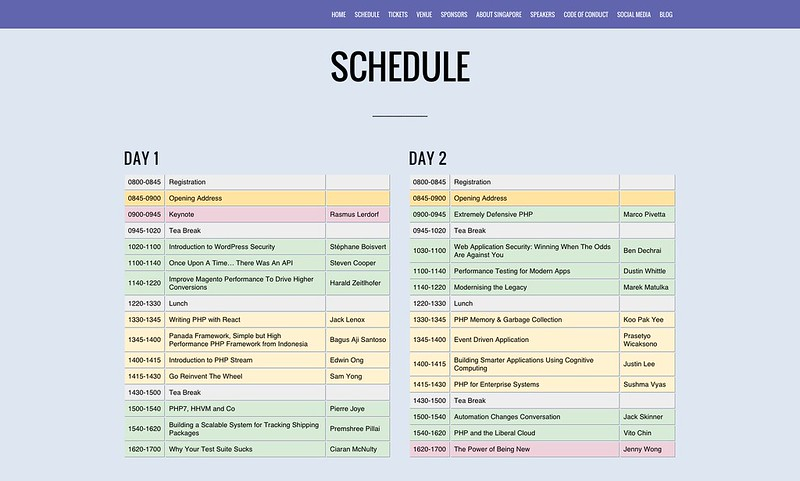 PHPConf.Asia 2015 - Schedule