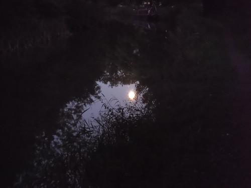 Reflection of near Full Moon on Kennett & Avon Canal