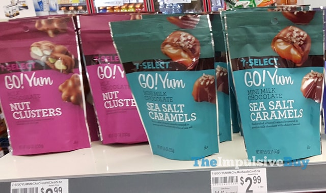 7-Select Go! Yum Milk Chocolate Nut Clusters and Mini Milk Chocolate Sea Salt Caramels