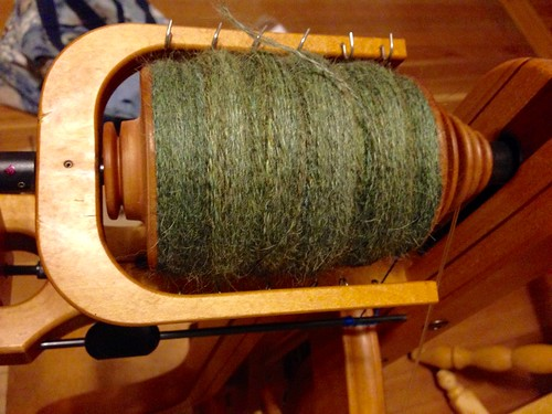 Well I'll be darned. It all fit- 6.5 oz alpaca/silk 2-ply. Spinzilla Day 7.