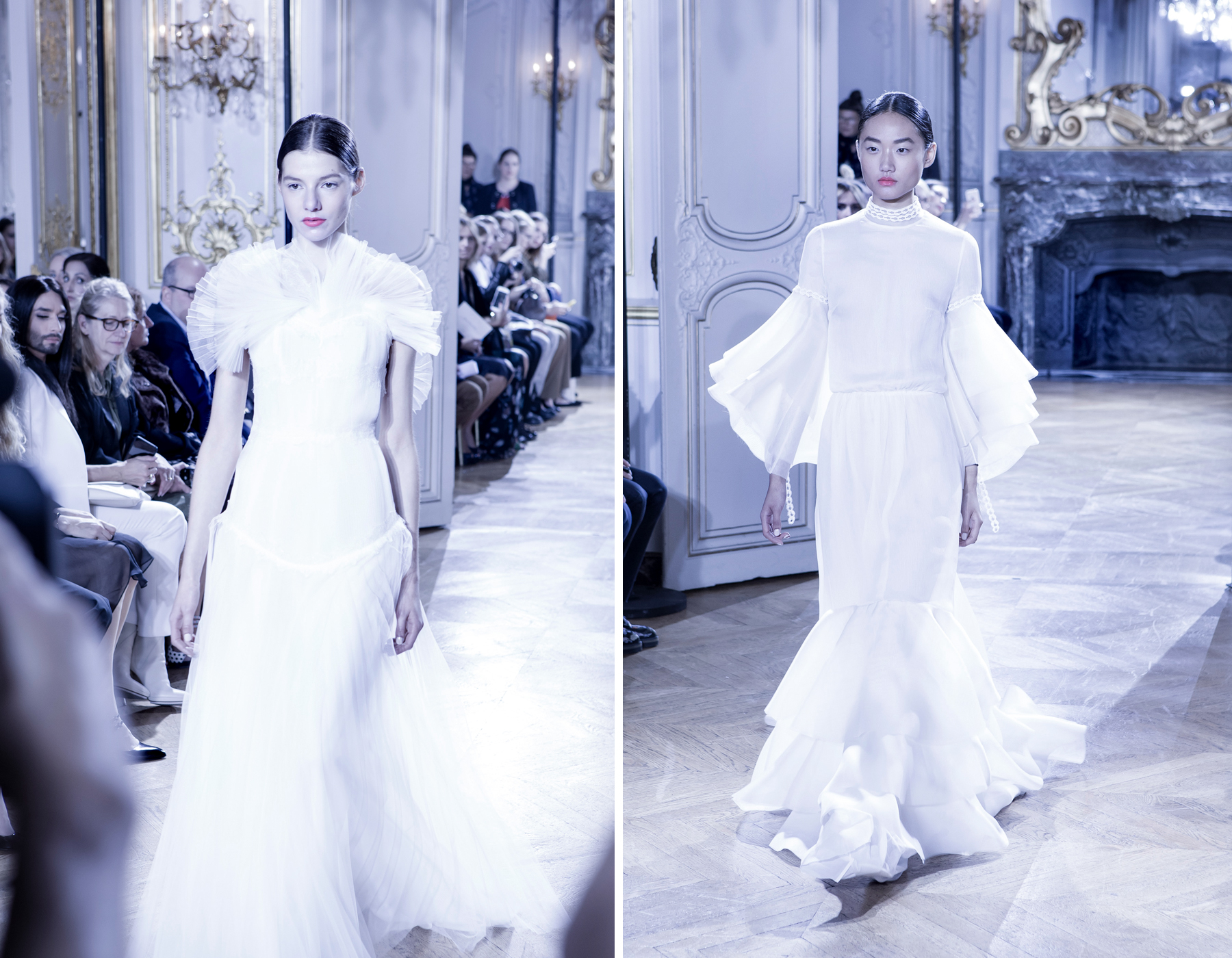 kaviar gauche s/s 2016 paris fashion week pfw presentation bridal dresses white makeup catrice cosmetics brautmode fashionblogger ricarda schernus cats & dogs blog 4