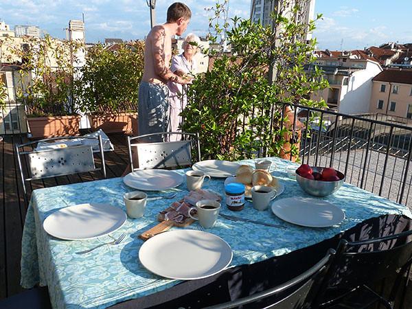 petit déjeuner sur les toits