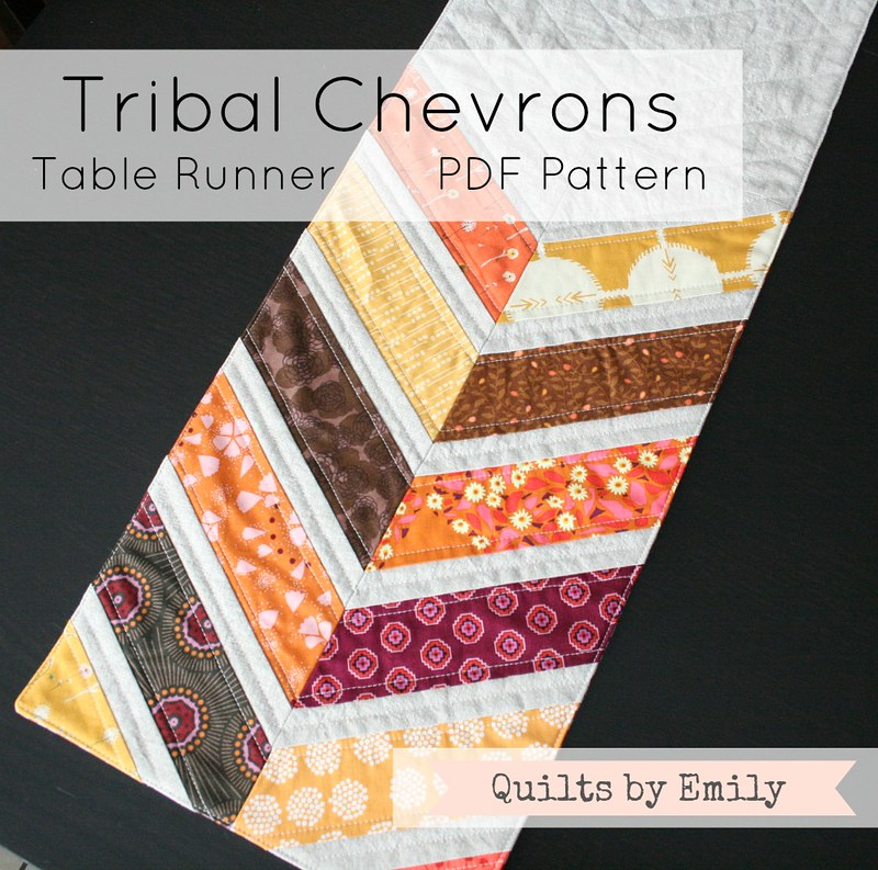 Fall Tribal Chevrons Table Runner