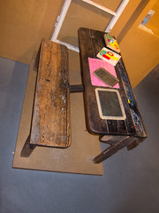 Antique school desk-2