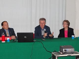 Il Dott. Castellana, il Sindaco Coppi e la Dott.ssa Zaccheo