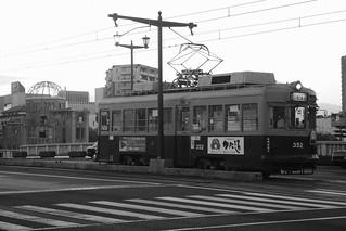Tramcars at Hiroshima on OCT 28, 2015 (1)