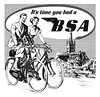 Detail from a 1950 BSA ad
