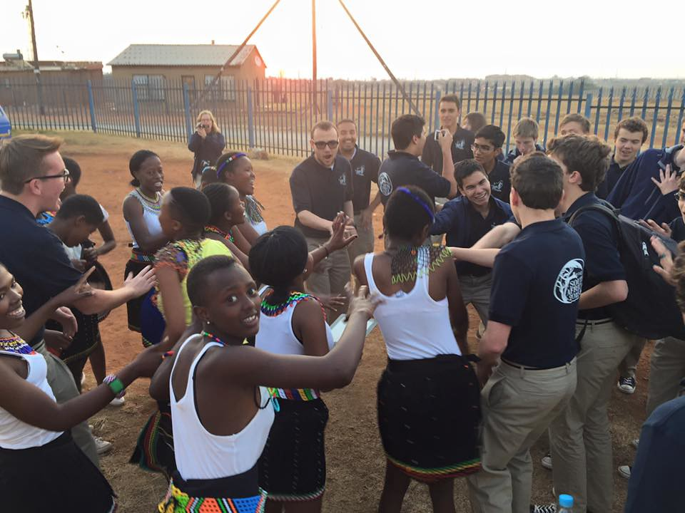 Ragazzi Boys Chorus with the Tandi Sibeko School Choir in the Duduza township near Johannesburg, South Africa