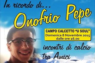 Noicattaro. Memorial Onofrio Pepe front