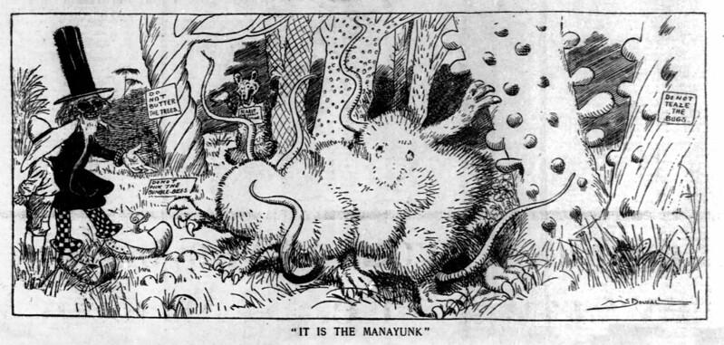 "Walt McDougall - The Salt Lake herald., July 20, 1902, ""It Is The Manayunk"""