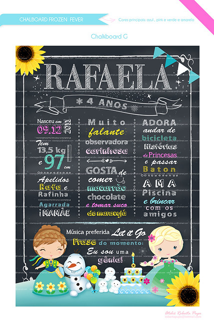 Chalkboard _Kit Frozen Fever_Rafaela