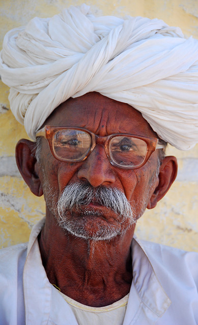 A man in Jaisalmer, India