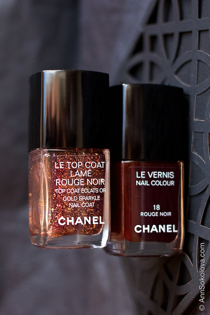 02 Chanel Le Top Coat Rouge Noir and Chanel 18 Rouge Noir