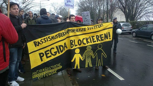 Aix-La-Chapelle. Mobilisation anti-PEGIDA