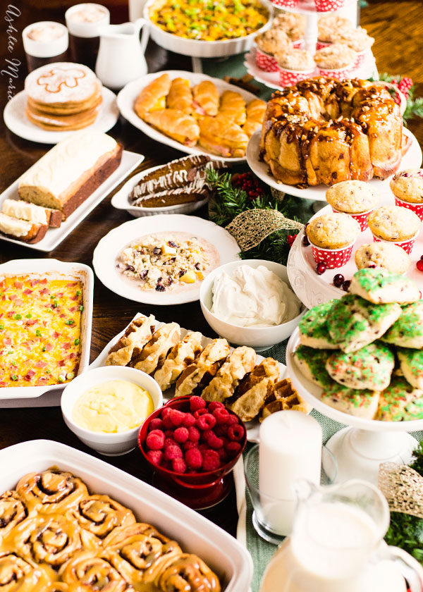 a round up of fifteen recipes that are perfect for holiday brunches and christmas morning breakfast from top food bloggers