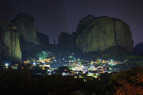 autumn night greece grecia griechenland grece meteora thessaly ελλάδα θεσσαλία μετέωρα