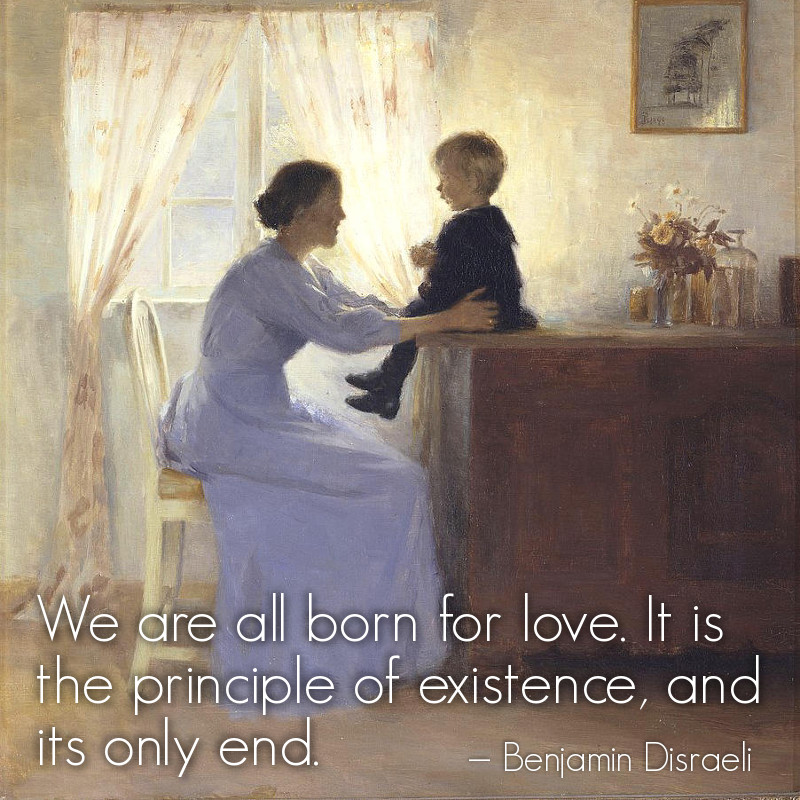 Mother and Child in an Interior by Peter Ilsted - 1898