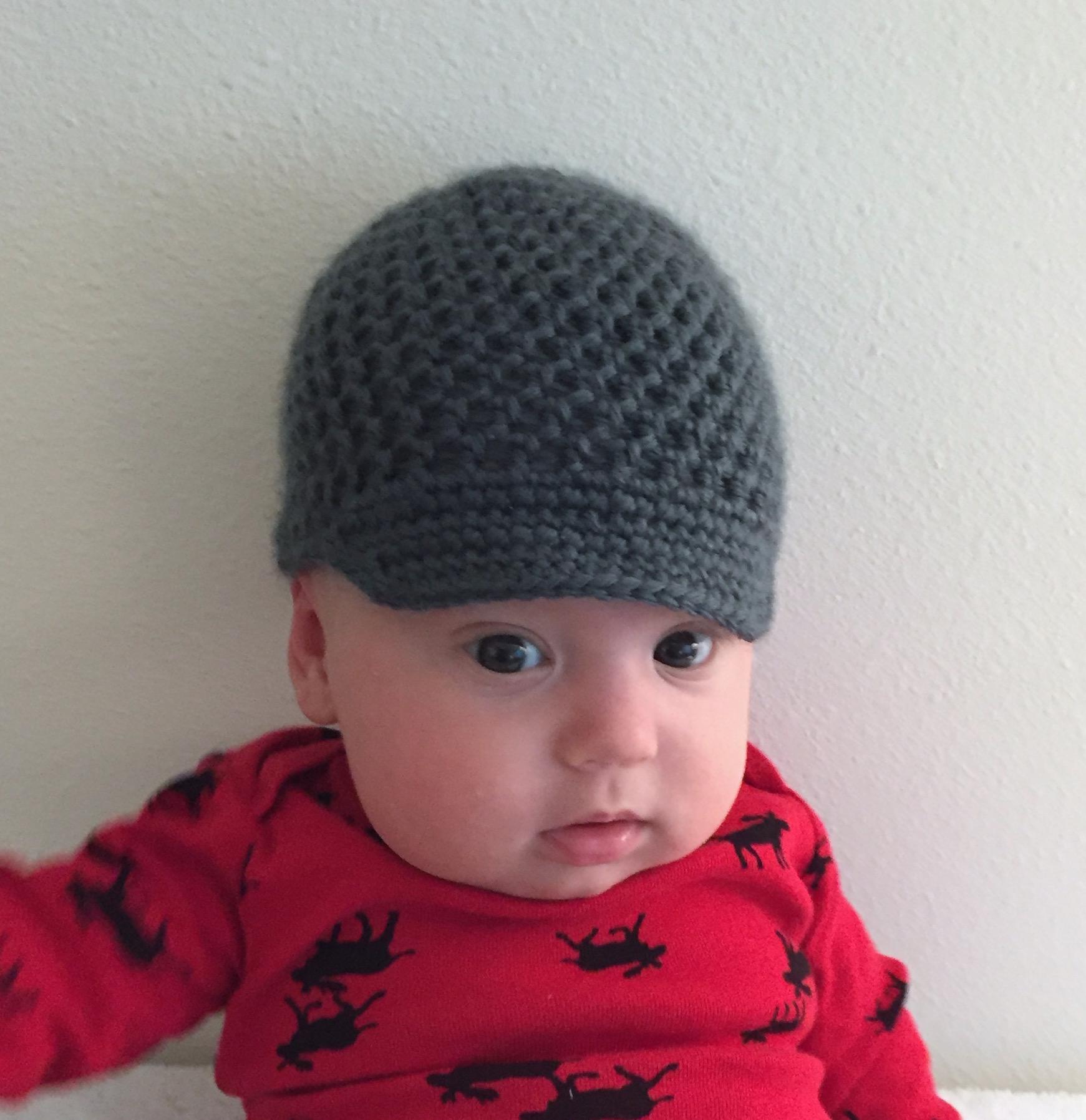 Suvi\'s Crochet: Baby Newsboy Cap