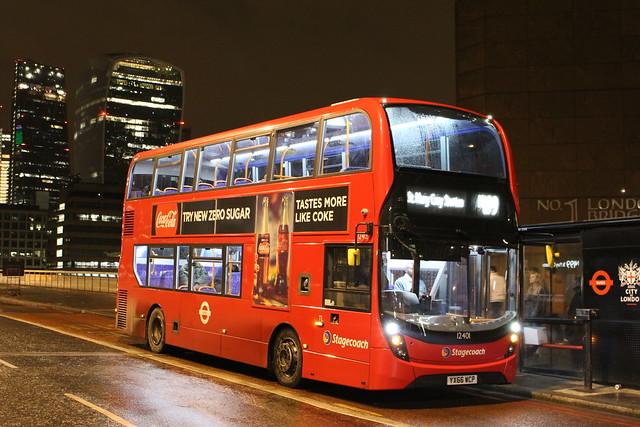 Stagecoach London 12401 on Route N199, London Bridge