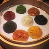 Multi-coloured, multi-flavoured Shanghai dumplings #hkfood