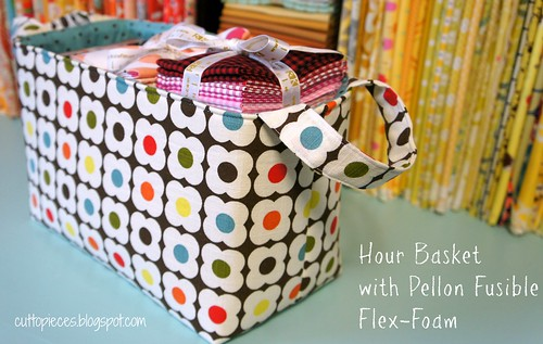 Hour Basket with Pellon Fusible Flex-Foam
