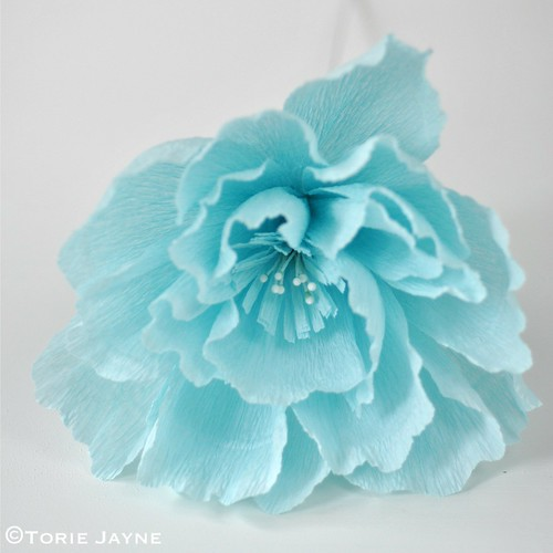 Crepe paper flower tutorial 2