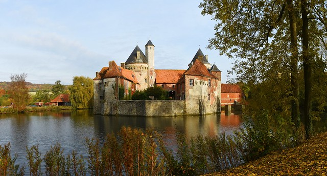 Château d'Olhain,  Fresnicourt-le-Dolmen, Nord-Pas-de-Calais, France