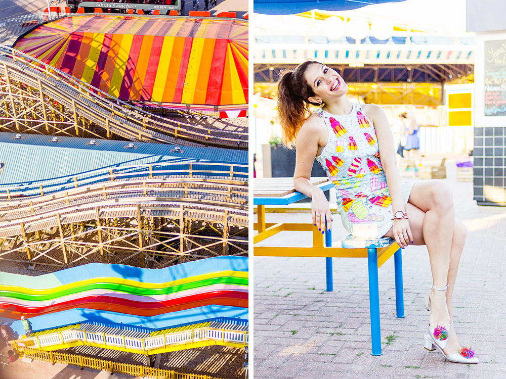 hanging out at colourful margate dreamland